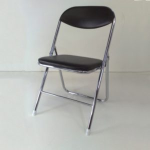 chrome black padding Chairs